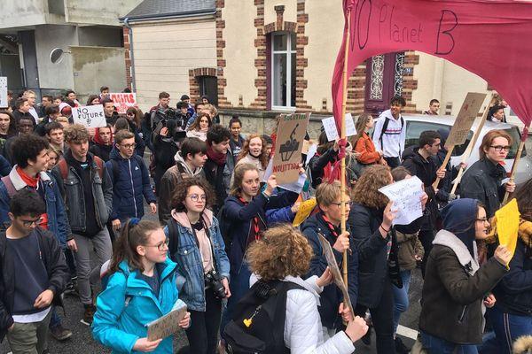 Jour de mobilisation pour le climat pour les jeunes en Normandie