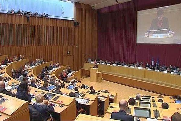 Toulouse - l'hémicycle du Conseil régional LRMP - janvier 2016.