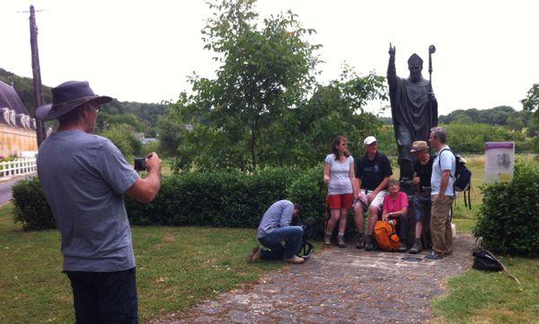 La statue de Saint Martin, allée des Marronniers à Lerné (37), a été restaurée en 2005.