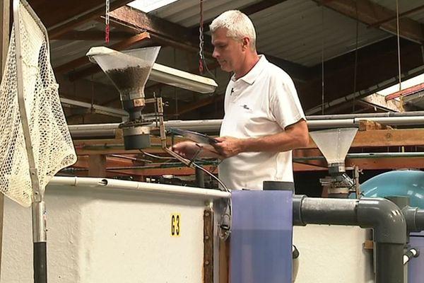 Palavas (Hérault) - Cyrille Przybyla, chercheur à l'Ifremer, développe un projet d'élevage de poissons sur la Lune - 2019.