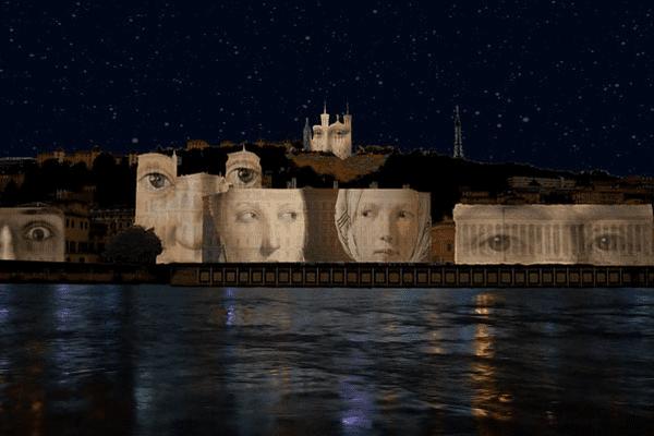 La ville de Lyon maintient sa projection géante des toiles de maîtres sur les quais.Le travail de Daniel Knipper servira de base à un hommage aux victimes des attentats de Paris.Les noms des victimes de Paris défileront sur la colline de Fourvière.