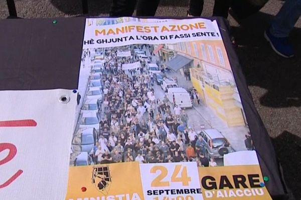 Une manifestation est prévue le 24 septembre 2016 à Ajaccio pour demander le rapprochement, le regroupement et l'amnistie des prisonniers dits politiques corses.