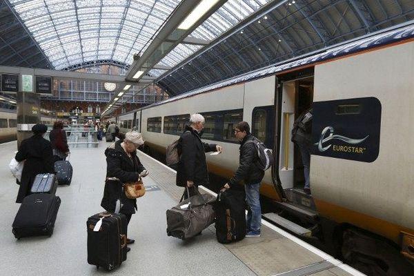 Un Eurostar en gare de Saint-Pancras à Londres.