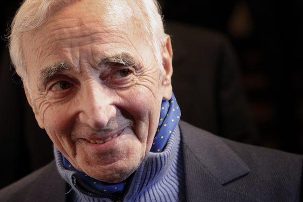Charles Aznavour à Paris en février dernier.