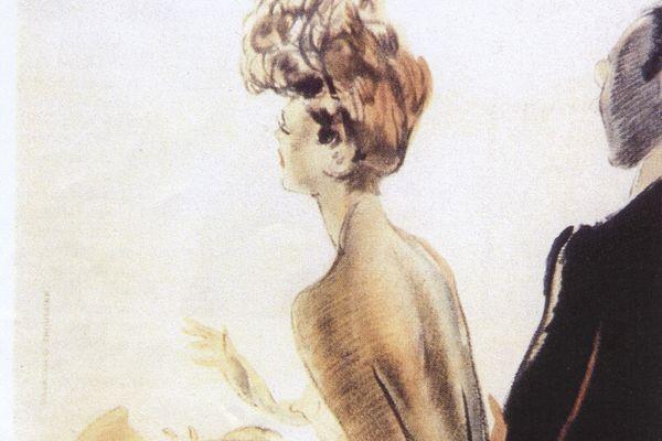 Le premier Festival de Cannes a failli avoir lieu en 1939 mais a été annulé à cause de la Seconde guerre mondiale. Haut de l'affiche originale de 1939.