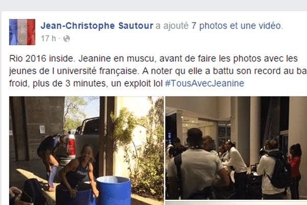 Le coach de la Limougeaude Jeanine Assani-Issouf a publié quelques photos de l'entraînement de l'athlète.
