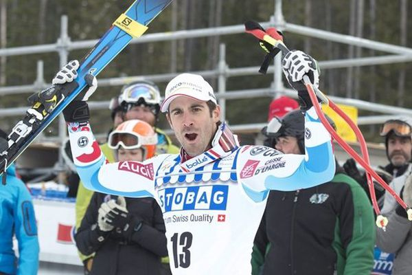 Le Bigourdan Adrien Théaux finit troisième de la première descente de la saison 2013/2014