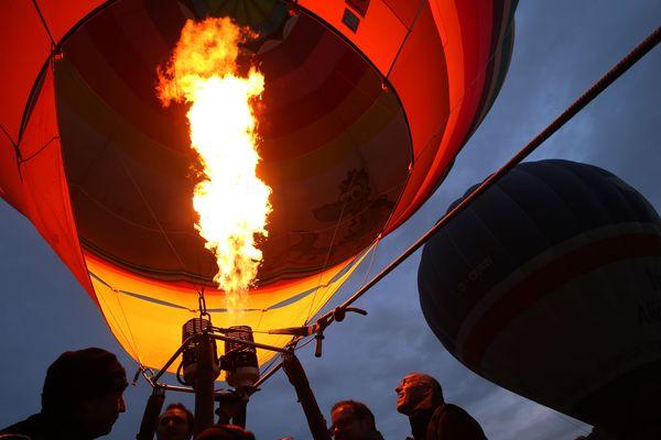 Les montgolfières sont parties du parc de la Hotoie à d'Amiens pour gagner Picquigny, dans la vallée de la Somme (photo d'illustration).