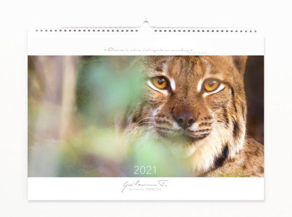 Le calendrier 2021 dont 50 % des gains seront reversé au Centre Athénas et à Rewild