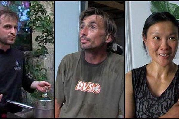 De gauche à droite, le cuisinier Pierre Lefebvre, le maraîcher Xavier Osouf et la photographe Cécile Guyenne