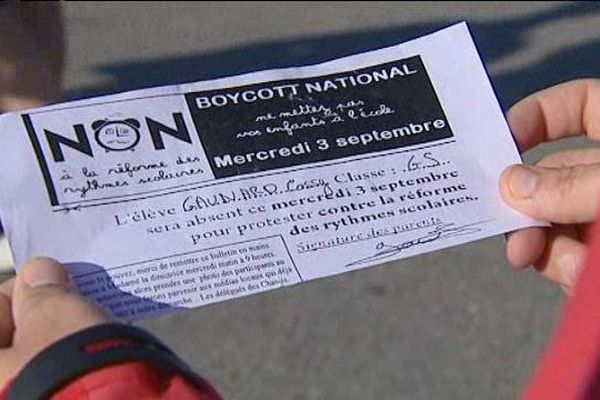 Mercurol (Drôme) : boycott du premier mercredi matin d'école
