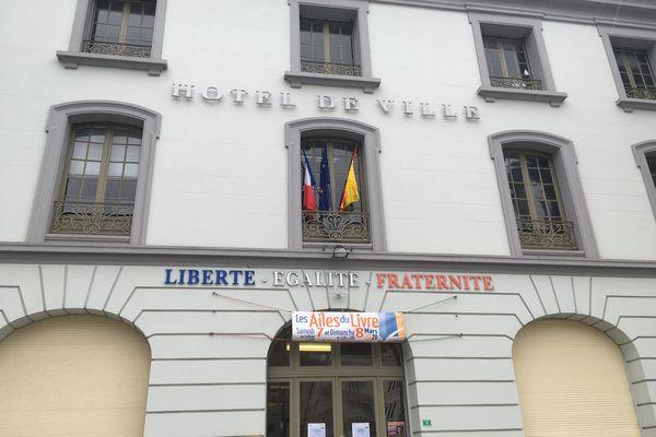 La façade de la mairie de Longwy (Meurthe-et-Moselle).
