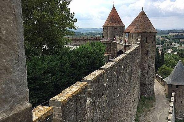 Remparts de la Cité de Carcassonne. Août 2015.