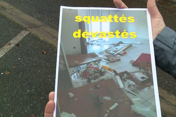 Une photo de l'état dans lequel les époux Moriot ont retrouvé leur appartement squatté
