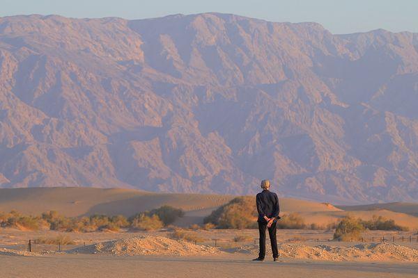 Pierre Michon dans le désert du Néguev