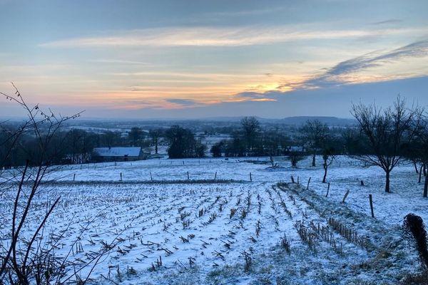 La neige ce mercredi 10 février dans le bocage virois