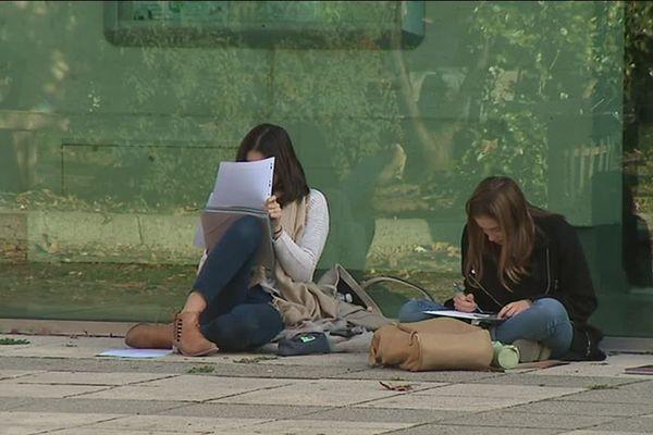 Des lycéennes du lycée Joffre à Montpellier