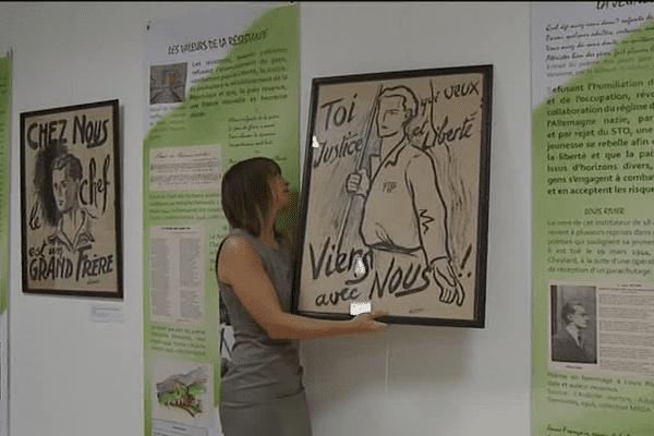 Exposition : des mots et des regards, expressions artistiques face à la guerre en Ardèche