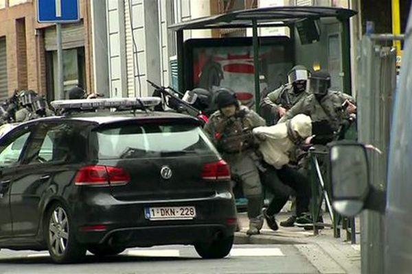 Salah Abdeslam lors de son arrestation.