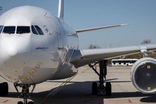 Un avion d'Air France à Roissy, le 24 mars, qui regroupera désormais l'activité aéroportuaire avec la fermeture temporaire d'Orly (illustration).