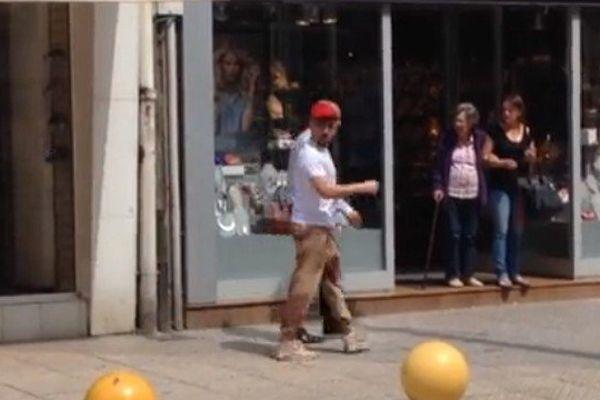 Franck Ribéry dans les rues de Boulogne-sur-mer vendredi dernier.