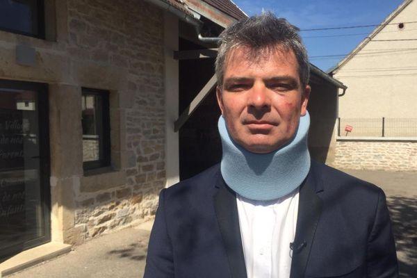 Sébastien Sordel, le maire de Tréclun, après son agression par l'un de ses administrés, ce dimanche 19 juillet 2020.