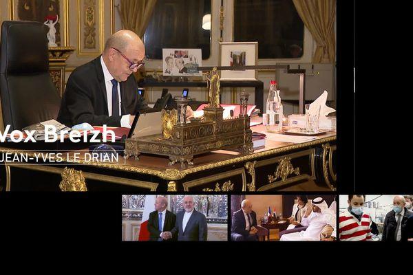 Jean-Yves Le Drian, ministre de l'Europe et des Affaires Étrangères, face aux Bretons dans Vox Breizh