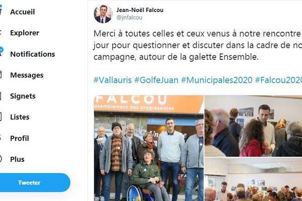 Jean-Noël Falcou candidat à Vallauris