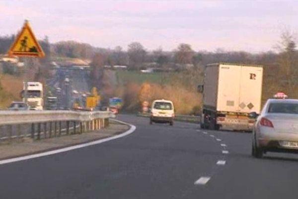 Nouveau tronçon de la RN 141 entre Limoges et Saint-Junien