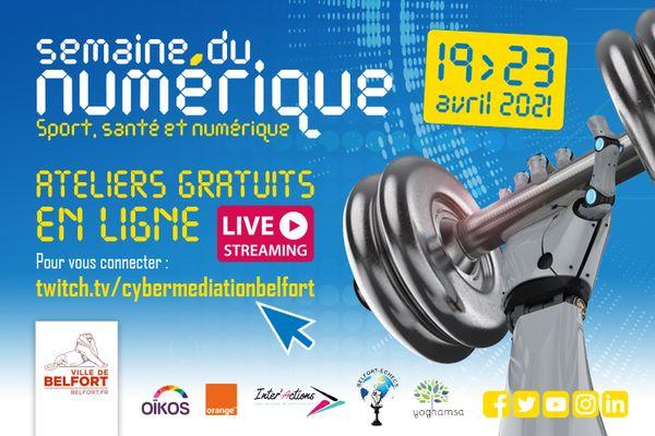 En avril, la ville de Belfort organise une semaine de conférences en ligne, sur les outils numériques pour prendre soin de soi
