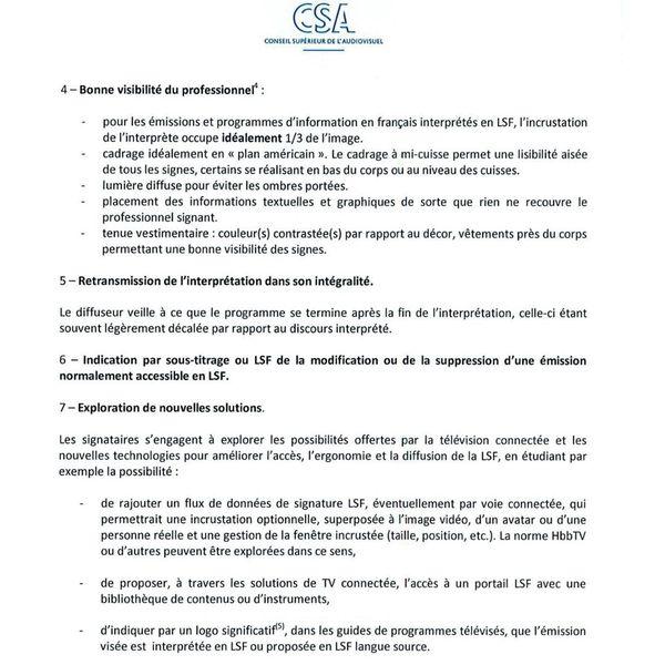 Charte de qualité pour l'usage de la Langue des Signes Française dans les programmes télévisés