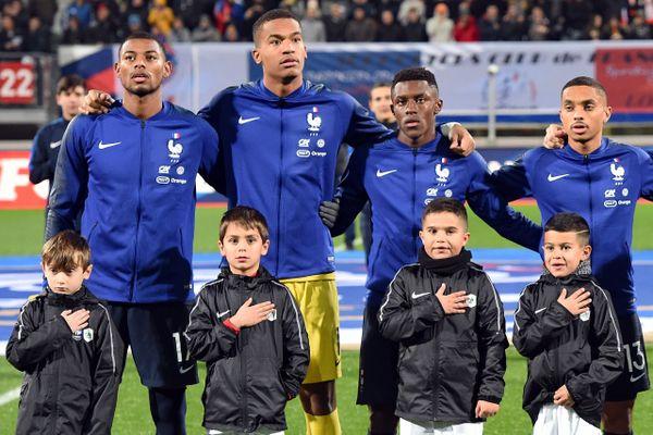 L'équipe de France espoirs en novembre 2019 au stade Marcel Picot à Tomblaine près de Nancy