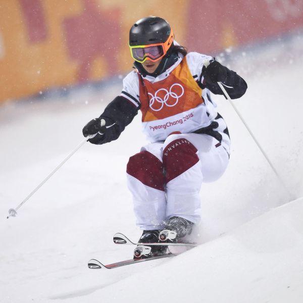 Perrine Laffont Competition de ski Freestyle aux J.O de Pyeongchang, le 11 février 2018
