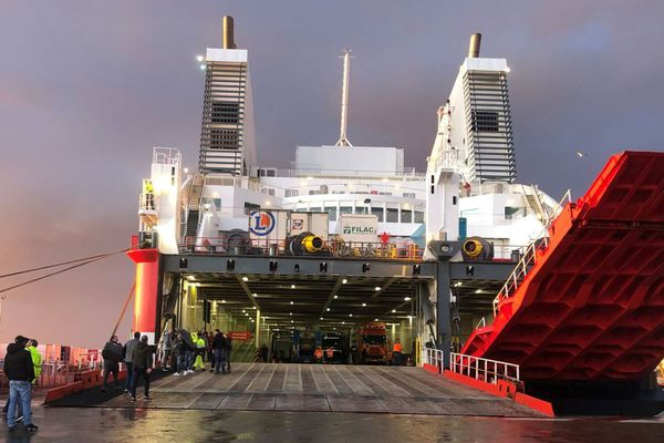 Le Pascal Paoli débarque dans le port de Bastia le dimanche 19 janvier dernier.