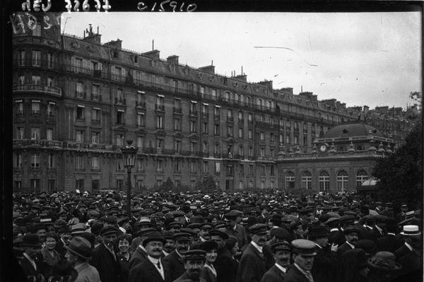 Grève des transports à Paris en 1919.
