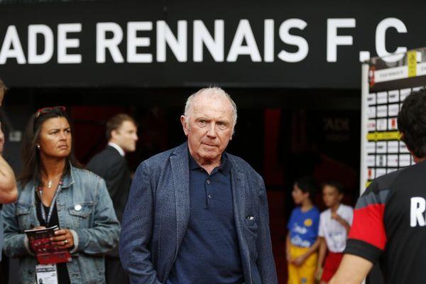 Le propriétaire du Stade Rennais depuis 1998, François Pinault, avant un match de championnat en août 2016 à Rennes