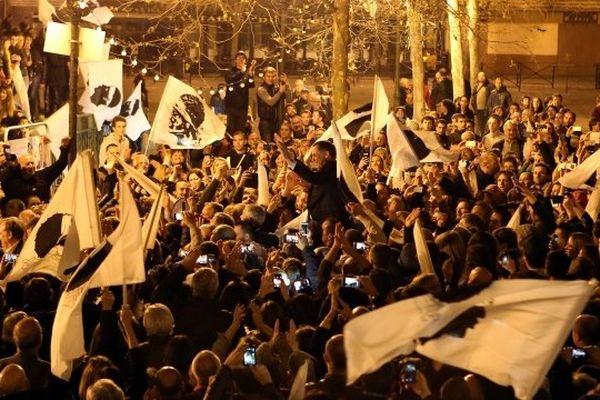 Victoire du candidat nationaliste Gilles Simeoni aux municipales de mars 2014 à Bastia