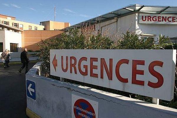 Entrée des urgences de Lapeyronie à Montpellier - archive