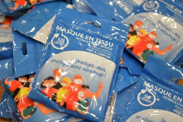 Masques distribués par la ville de Dieppe à ses habitants