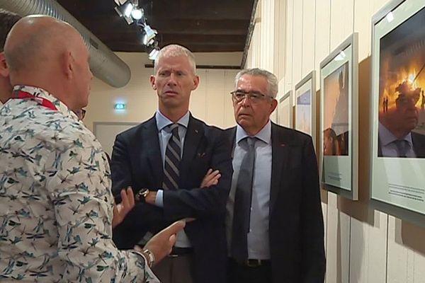 Perpignan - le ministre de la Culture en visite au festival Visa pour l'image - 5 septembre 2019.