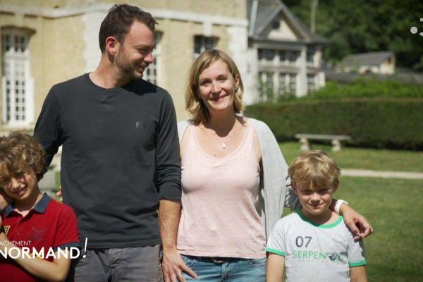 La famille Navarro, propriétaire du château du Taillis à Duclair, en Seine-Maritime (Normandie)