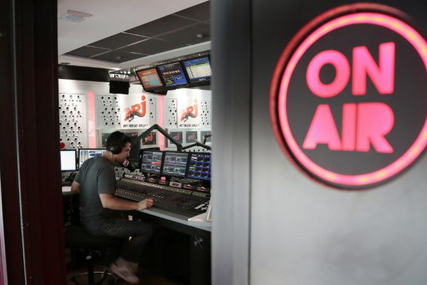 Un studio de la radio NRJ (image d'archive, 2012).