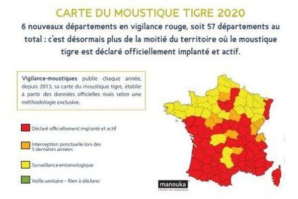 La Corse-du-Sud et la Haute-Corse font partie des 57 départements français classés rouge.