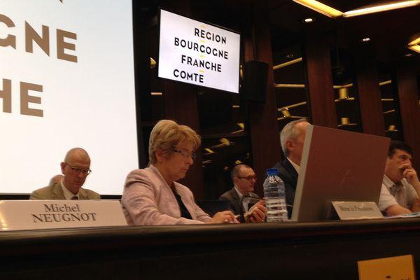 Marie-Guite Dufay, ce vendredi 25 mai lors de la séance du conseil régional de Bourgogne-Franche-Comté.