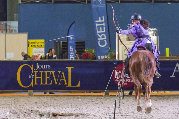 Le tir à l'arc à cheval a fait son apparition officielle en France en 2014.