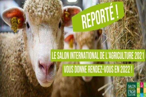 Affiche du salon international de l'agriculture 2021.