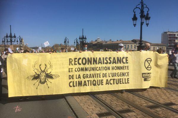 Bordeaux, marche pour une vraie loi climat, dimanche 28 mars 2021.
