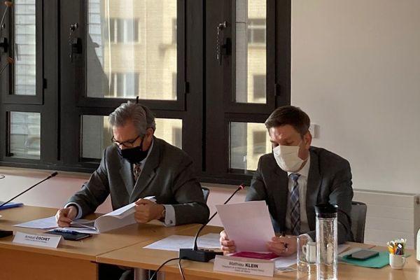 Le Préfet de Meurthe-et-Moselle Arnaud Cochet et le Président du Grand Nancy Mathieu Klein appellent les nancéiens à se faire tester et à rester vigilants pendant les fêtes