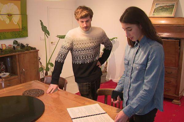 Inès Bigonnet et Aurélien Quillet, qui a épaulé la jeune Gardoise dans la réalisation de son premier film.
