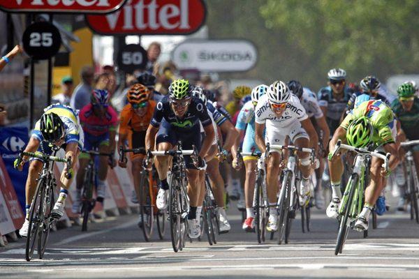 ILLUSTRATION - Arrivée à Calvi du tour de France le 1er juillet 2013